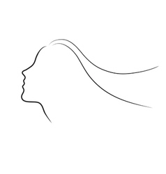 Female head half face sihlouette vector