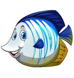 Fish with happy face vector