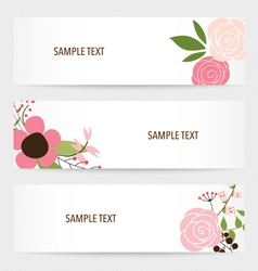 Flower background brochure template set of floral vector