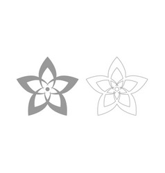 Flower the grey set icon vector
