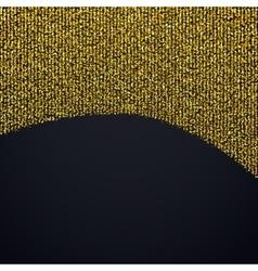 Golden confetti design element vector image