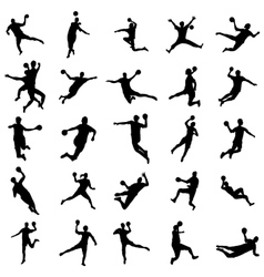 Handball silhouette set vector