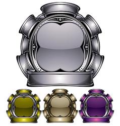 industrial emblem vector image vector image