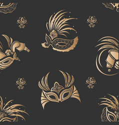 masks seamless pattern vector image