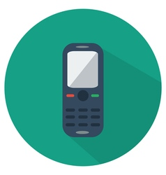 Mobile phone icon flat vector image vector image