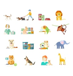 Set of home pets vector