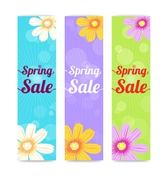 Set of spring season sales banner background vector