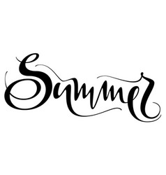 summer hand written text isolated on white vector image vector image