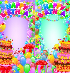 Vertical banner birthday bright with space for vector image vector image