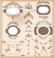 Vintage decorations elements baroque ornaments vector