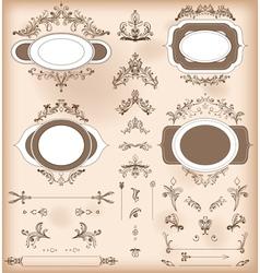 Vintage Decorations Elements Baroque Ornaments vector image
