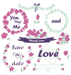 Wedding and valentines day collection vector