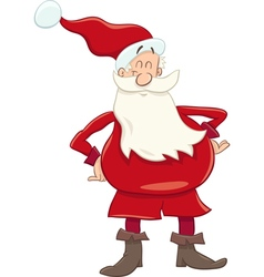 Funny santa cartoon vector