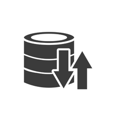 Data storage center isolated icon vector
