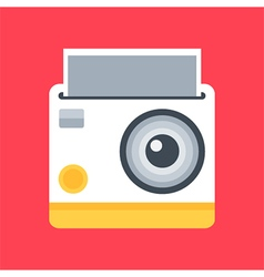 Flat design instant photo camera vector
