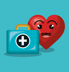 heart character healthcare icon vector image