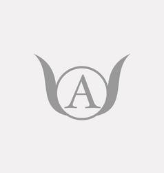 A alphabet letter logo icon template company vector