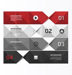 Modern geometric infographics design template vector