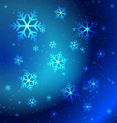 Abstract shiny snowflakes vector