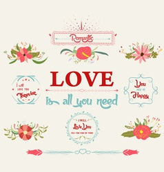 Floral amazing love vector