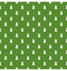 Seamless pattern with rabbits and stripes in rhomb vector image