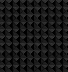 Seamless black geometric embossed pattern vector