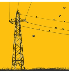 electricity pylon vector image