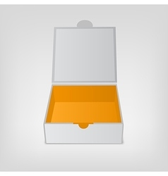 Gray squared box orange color inside open box vector