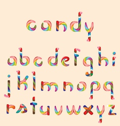 Candy alphabet vector