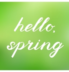Hello spring handwritten vector