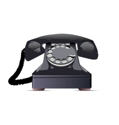 Black Telephone vector image