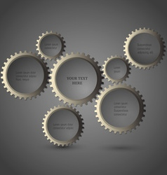 Metallic gear wheels vector image