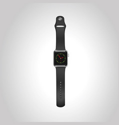 Apple watch sport 42mm with black sport vector