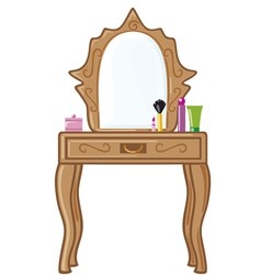 bedroom mirror vector image vector image