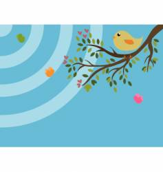 bird on a tree vector image vector image