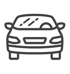 car line icon transport and automobile sedan vector image vector image