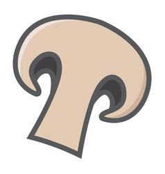 Champignon colorful line icon vegetable mushroom vector