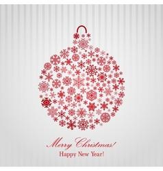 Christmas background with Christmas ball vector image vector image