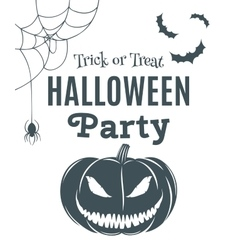Halloween party poster template vector
