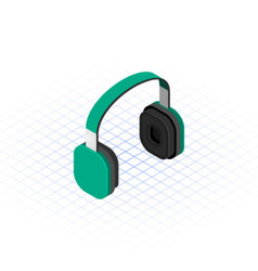 Isometric headset vector