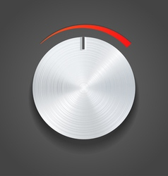 Metal knob vector image vector image