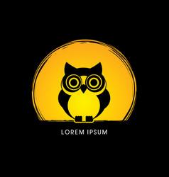 Owl front view vector