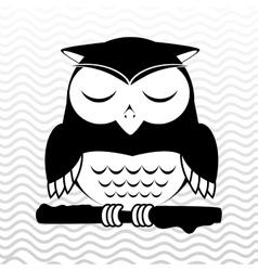 owl sleeping design vector image vector image