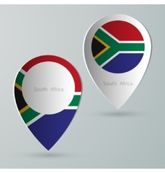 paper of map marker for maps south africa vector image