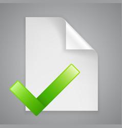 paper symbol check vector image vector image
