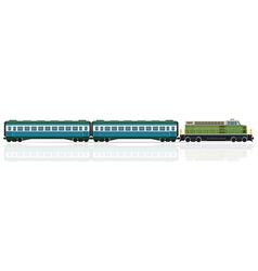 Railway train 21 vector