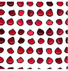 seamless pattern with cranberry on a white vector image vector image