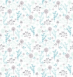 seamless pattern with plants vector image