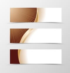 Set of banner design vector image vector image