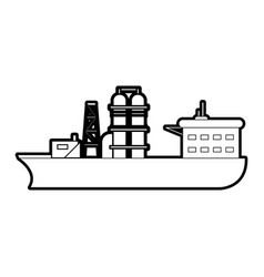 Ship oil industry related icon image vector